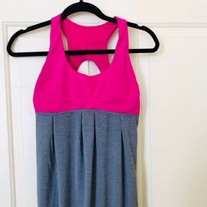Lululemon Run Your Heart Out Tank Pink/Grey, 6